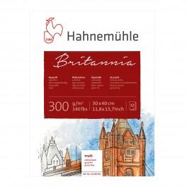 Hahnemühle Britannia Akvarel blok, Mat, 30x40cm., 300gr.