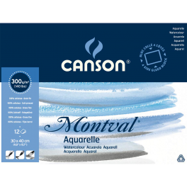Canson, Montval, Akvarel blok, cold pressed, 30x40cm., 300gr