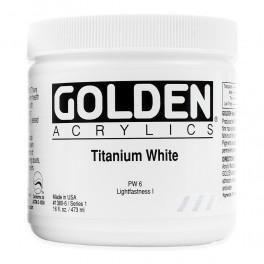 GOLDEN Heavy Body 473 ml. Titanium White
