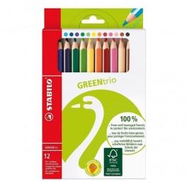 STABILO, Green trio farveblyanter, 12 stk