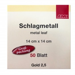 Slagmetal, 14 x 14 cm, 50 ark, 2,5 guld