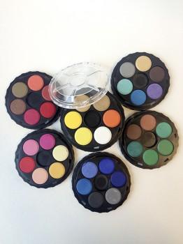 Akvarel box, rund, 36 farver
