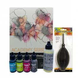 RANGER Alkohol Ink Sæt, A4 + BS - valgfrie farver + air blower