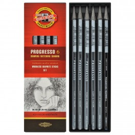 Koh-I-Noor, Progresso, Graphite sticks, 6 stk.