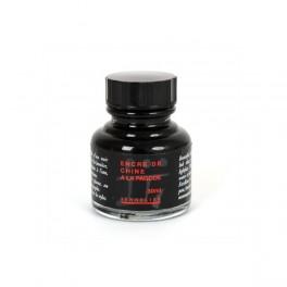 Sennelier, Indisk blæk sort 30 ml.