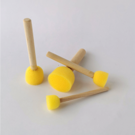 Skum stencilpensler, sæt, gul, 4 stk.