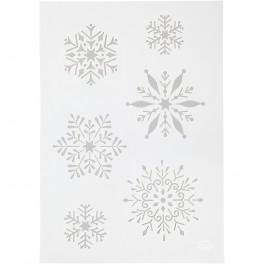 Stencil, Snowflakes