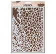 """Stencil, 21 x 30 cm. """"Erosion sandstone"""""""
