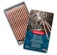 Derwent Metallic farveblyanter, 12 stk, tin