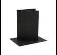 Kort og kuverter, sort, 4 sæt