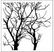 TCW, Stencil, 15x15, Mini Reversed Branches