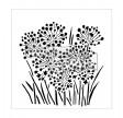 TCW, Stencil, 30x30, Onion Blossoms