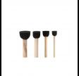 Skum stencilpensler, sæt, sort, 4 stk.