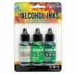 Ranger Alkohol ink Kit, 3 stk., Mint Green Spectrum. FAST LAVPRIS