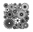 TCW, Stencil, 30x30, Flower Frenzy