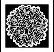 TCW, Stencil, 30x30, Cactus Dahlia