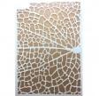 Stencil, 21 x 15, Tiny's Leaf Grain
