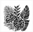 TCW, Stencil, 30x30, Tropical Fronds