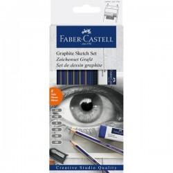 Faber Castell, tegnesæt, Graphite sketch sæt, 8 stk.