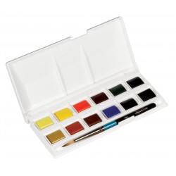 Aquafine Akvarelsæt, studio (12 half-pans)