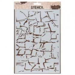"""Stencil, 21 x 30 cm. """"Rock wall"""""""