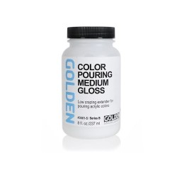 Golden, Color Pouring Medium, Gloss, 473 ml.