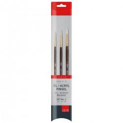 Taklon pensel, syntetisk, sæt, A110-2