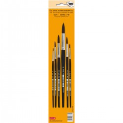 Taklon pensel, syntetisk, sæt, A40