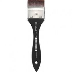 Lak pensel, 60 mm., korte syntetiske børster
