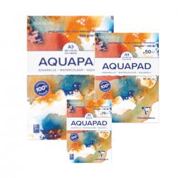 Clairefontaine, akvarelpapir, Aquapad, Blok, 300 g