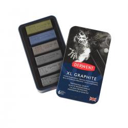 Derwent, XL Graphite, grafit sæt med 6 farver, tinbox