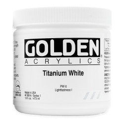 GOLDEN Heavy Body 473 ml. Titanium White