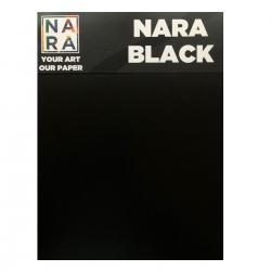 Nara papir, sort, 10 ark, 330 g-30,8x45,8 cm