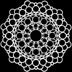 TCW, Stencil, 15x15, Orb Mandala
