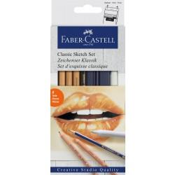 Faber Castell, Classic sketch sæt, 6 stk.