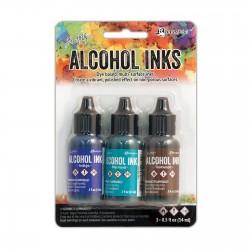 Ranger Alkohol ink Kit, 3 stk., Mariner. FAST LAVPRIS