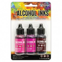 Ranger Alkohol ink Kit, 3 stk., Pink Red Spectrum. FAST LAVPRIS