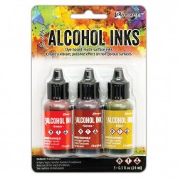Ranger Alkohol ink Kit, 3 stk., Orange Yellow Spectrum. FAST LAVPRIS