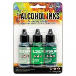 Ranger Alkohol ink Kit, 3 stk., Mint Green Spectrum. FAST LAVPRIS