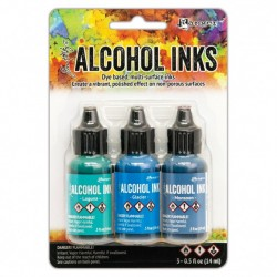 Ranger Alkohol ink Kit, 3 stk., Teal Blue Spectrum. FAST LAVPRIS
