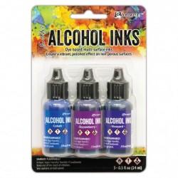 Ranger Alkohol ink Kit, 3 stk., Indigo Violet Spectrum. FAST LAVPRIS