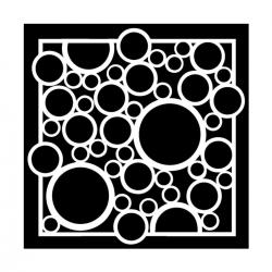 TCW, Stencil, 30x30, Bubble Rebound