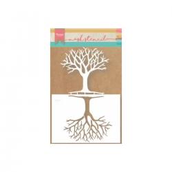 Stencil, 21 x 15, Tree